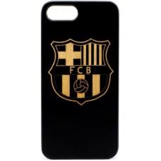 "Husa VINTAGE din lemn acacia pentru iPhone 7/8, pirogravura - Acacia wood vintage case for iPhone 7/8, phyrography ""FC Barcelona"""