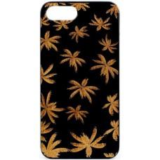 "Husa vintage din lemn acacia pentru iPhone 7/8, pirogravura - Acacia wood vintage case for Iphone 7/8, phyrography ""Maria Leaves"""