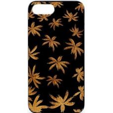 "Husa minimalista din lemn acacia pentru iPhone 7/8 Plus, pirogravura - Acacia wood vintage case for iPhone 7/8 Plus, phyrography ""Maria Leaves"""