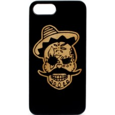 "Husa vintage din lemn acacia pentru iPhone 7/8 plus, pirogravura - Acacia wood vintage case for iPhone 7/8 Plus, phyrography ""Pirat Skull"""