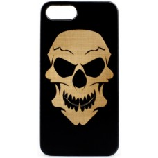 "Husa VINTAGE din lemn acacia pentru iPhone 7/8 plus, pirogravura - Acacia wood vintage case for iPhone 7/8 Plus, phyrography ""Tribal Skull"""