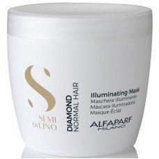Masca tratament de stralucire pentru par normal - Illuminating Mask - Semi Di Lino - Diamond - Alfaparf - 500 ml