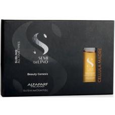 Elixir de regenerare cu celule stem de argan pentru toate tipurile de par - Cellula Madre Beauty Genesis - Semi di Lino - Sublime - All Hair Types - Alfaparf Milano - 12x13 ml