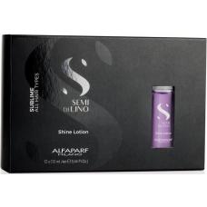 Lotiune de stralucire pentru toate tipurile de par - Shine Lotion - Semi di Lino - Sublime - All Hair Types - Alfaparf Milano - 12 x 13 ml