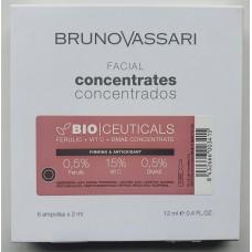 Fiole cu acid feluric + Vitamina C  + Dmae - Bioceuticals - C + Ferulic + Dame - Bruno Vassari -  6x2 ml