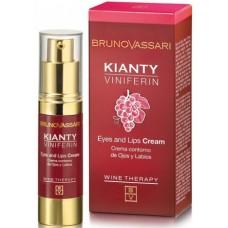 Crema anti-rid cu ceramide - Kianty Viniferin - Eyes And Lips Cream - Bruno Vassari - 15 ml