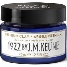 Crema modelatoare cu fixare puternica pentru barbati - Premium Clay - Distilled for Men - Keune - 75 ml