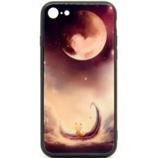 """Husa eleganta ultra-subtire de lux pentru iPhone 7/8, patern - Luxury ultra-thin case for iPhone 7/8, patern """"Lunatic Cat"""""""
