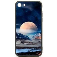 "Husa eleganta ultra-subtire de lux pentru iPhone 7/8, patern - Luxury ultra-thin case for iPhone 7/8, patern ""Siver Moon"""