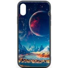 "Husa eleganta ultra-subtire de lux pentru iPhone X, patern - Luxury ultra-thin case for iPhone X, patern ""Night Decor"""