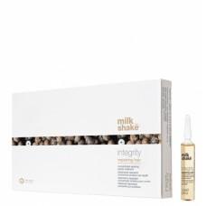 Tratament reparator si hidratant cu concentrat de proteine pentru par degradat - Repairing Hair Lotion - Integrity - Milk Shake - 8x12 ml