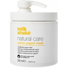 Masca reconstructoare pe baza de proteine de iaurt pentru par normal, colorat sau uscat - Active Yogurt Mask - Natural Care - Milk Shake - 500 ml