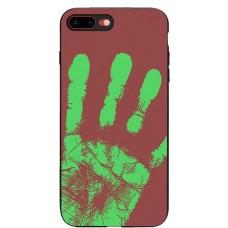Carcasa termosensibila pentru iPhone 7/8, Rosu-maroniu - Thermosensitive case for iPhone 7/8, Red-Brown
