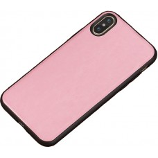 Carcasa subtire din piele lucrata manual pentru Iphone 7/8 Plus, Roz - Thin-leather hand made case for Iphone 7/8 Plus, Pink