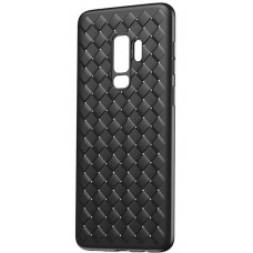 Husa Ultra-Subtire cu Model Impletit Fit pentru Samsung Galaxy S9 Plus, Negru - Ultra-thin braided pattern case for Samsung Galaxy S9 Plus, Black
