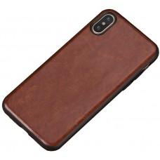 Carcasa subtire din piele lucrata manual pentru Iphone 7/8, Cafeniu - Ultra-thin leather skin handmade case for iPhone 7/8, Light-Brown