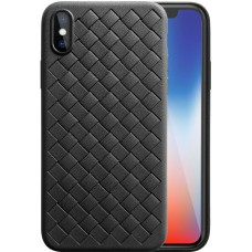 Husa Ultra-Subtire Model Weave pentru iPhone X, Negru - Ultra-thin weave model case for iPhone X, Black